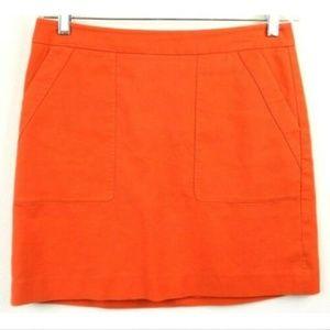Ann Taylor LOFT Stretch Cotton Mini Pockets Skirt